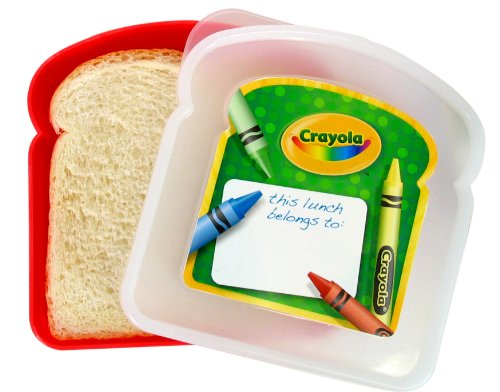 Crayola Sandwich Container, Colors Vary from Evriholder