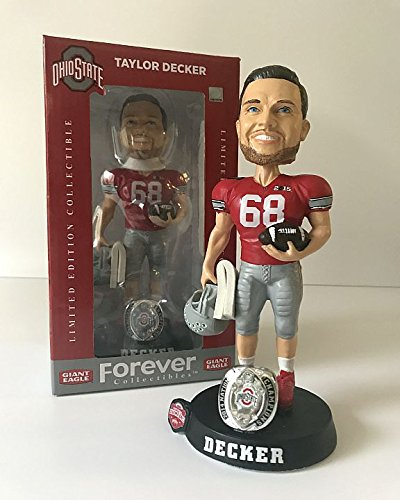 Taylor Decker Ohio State Buckeyes Limited Edition Bobblehead - 2014 National Champions - Limited Edition Collectible Ohio Sports Group