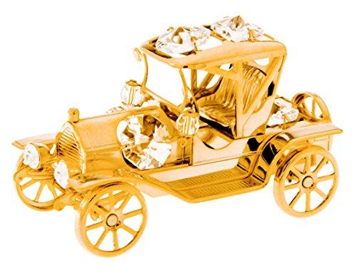 Vintage Car 24k Gold Plated Figurine with Swarovski Crystals ()