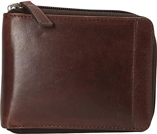Mancini Leather Goods Casablanca Collection: Men's RFID Zippered Wallet with