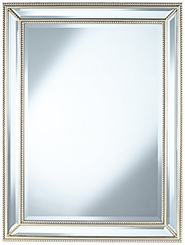 Uttermost Palais Beaded 30'' x 40'' Silver Wall Mirror by Uttermost