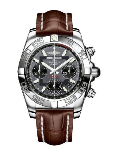 Breitling Chronomat 41 Automatic Chronograph Black Dial Mens Watch AB014012/F554