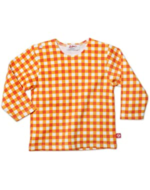 Unisex Baby Fair And Square Long Sleeve T Shirt, Orange, 18 Months