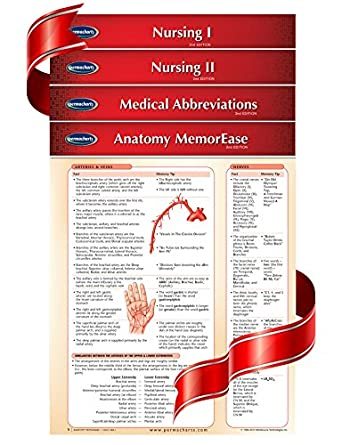 Amazon Nursing Quick Reference Guides 4 Medical Chart Bundle