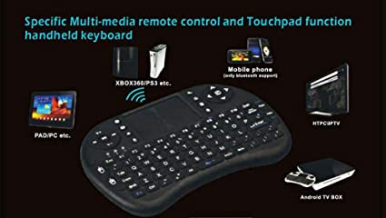 Dasuy 2.4GHz Mini Wireless Keyboard with Touchpad Mouse Combo Handheld 92 Keys Rechargable Remote Keyboard for Windows//Android//Google//Smart TV//PS3//PC//PAD