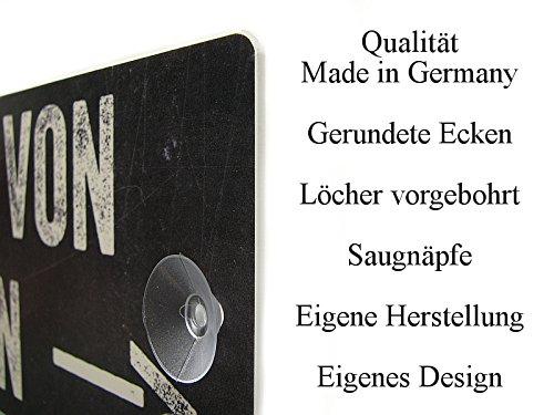 Kunststoffschild mit Saugnapf HIER WOHNT EINE FEUERWEHRFRAU Hobby Beruf Geschenk