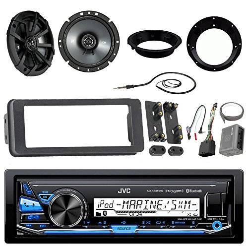 Series Performance Scosche - Marine Radio Stereo Receiver Bundle with 2 X Kicker 46CSC674 6-3/4