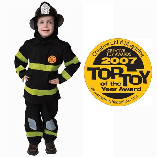 Deluxe Fire Fighter Dress Up Costume Set - Toddler T4 (Deluxe Firefighter Costume)