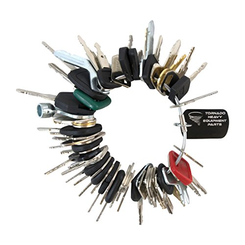 - Construction Equipment Master Keys Set-Ignition Key Ring for Heavy Machines, 56 Key Set