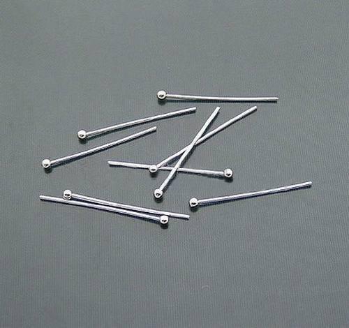 100pcs/lot 24*0.5mm Head Dia1.8mm Plated Copper Eye Pins Head Pin