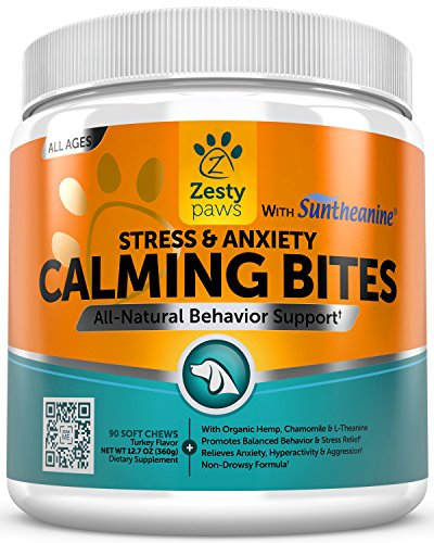 Calming-Soft-Chews-for-Dogs-Anxiety-Composure-Aid-Treats-With-Suntheanine-Organic-Hemp-Oil-Valerian-Root-L-Tryptophan-for-Dog-Stress-Relief-Great-for-Storms-Barking-Chewing-90-Count