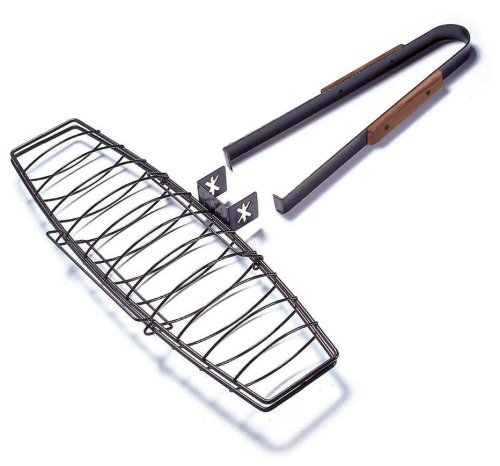 Triple Fish Basket - Charcoal Companion Ultimate Nonstick Fish-Grilling Basket
