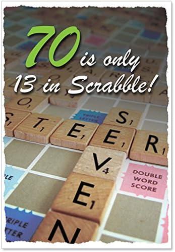 70 en Scrabble cumpleaños chistosa tarjeta de papel: Amazon.es: Oficina y papelería
