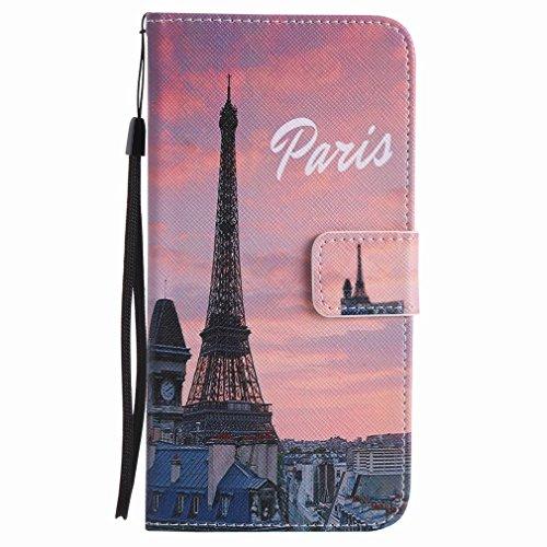 Yiizy Google Pixel XL Custodia Cover, Torre Di Di Eiffel Design Sottile Flip Portafoglio PU Pelle Cuoio Copertura Shell Case Slot Schede Cavalletto Stile Libro Bumper Protettivo Borsa