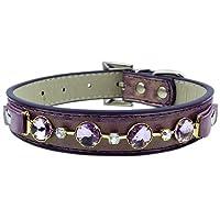 Parisian Pet Lilac Princess Dog Collar, Medium