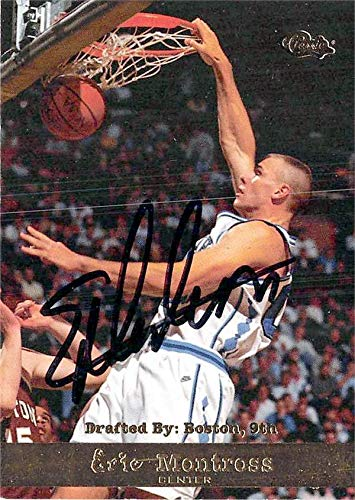 (Eric Montross autographed Basketball Card (North Carolina Tar Heels) 1994 Classic Rookie #6)
