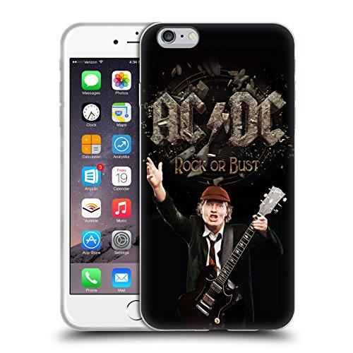 Officiel AC/DC ACDC Rock Ou Buste Titres De Chanson Étui Coque en Gel molle pour Apple iPhone 6 Plus / 6s Plus