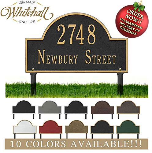 Metal Address Plaque Personalized Cast Lawn Mounted Arch Plaque. Display Your Address and Street Name. Custom House Number Sign. Order by 12PM PST, DEC. 16TH and GET IT for Christmas!! -