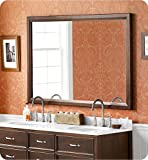 Ronbow 603160 Transitional 60'' x 39'' Solid Wood Framed Bathroom Mirror With Finish: Cafe Walnut