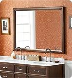 Ronbow 603160 Transitional 60'' x 39'' Solid Wood Framed Bathroom Mirror With Finish: Cafe Walnut