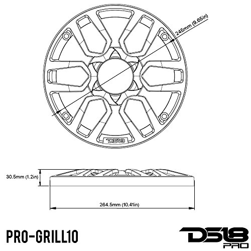 Amazon Com Ds18 Pro Grill10 10 Inch Car Audio Plastic Universal