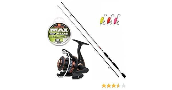 Kit Trout Area, caña Spinning Forward 180, carrete Vigor Task FD ...