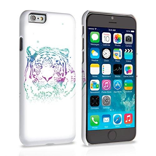 Caseflex iPhone 6 Plus / 6S Plus Hülle Blau / Lila Tiger Spritzer Hart Schutzhülle (Kompatibel Mit iPhone 6 Plus / 6S Plus - 5.5 Zoll)