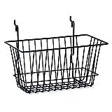 Wire Basket Slatwall Gridwall Pegboard Display Store Fixture Lot of 6 Black NEW