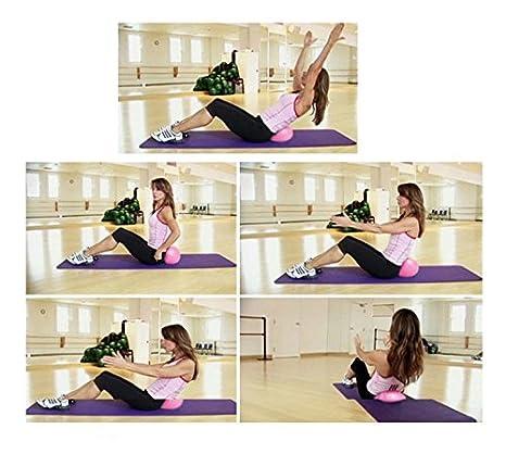 1pi/èce 25/cm Mini boule de yoga physique Ballon de fitness pour lentra/înement Gym anti Rafale et antid/érapant Balles avec paille gonflable