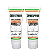 TheraBreath – Fresh Breath Toothpaste – Fluoride Free Formula - Stops Bad Breath – No Artificial Flavors or Detergents – Mild Mint Flavor – 4-oz. Tubes – Two-Pack
