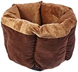 Beatrice Home Fashions CNPPTB18GLD Catnap Round Pet Bed, 18″, Chocolate/Gold Review
