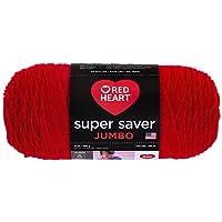 Red Heart Super Saver Jumbo Yarn, Cherry Red