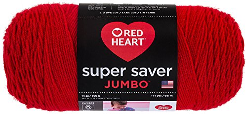 - Red Heart  Super Saver Jumbo Yarn, Cherry Red