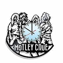 Vinyl record wall clock Mötley Crüe, for Mötley Crüe fans, Mötley Crüe music wall poster