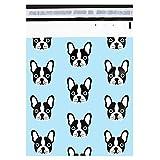 [100–25,4x 33cm] packitchic–Cute Frenchie Puppy Dog–Custom Poly Mailer sobre Bolsas para envío, a prueba de roturas y potente, autoadhesivo calcomanía (Otros diseños disponibles)