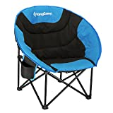 Kingcamp Moon Leisure Lightweight Camping Chair-Padded Seat, Heavy-Duty Construction, with Magazines Bag, Both for Outdoor and Indoor Activities