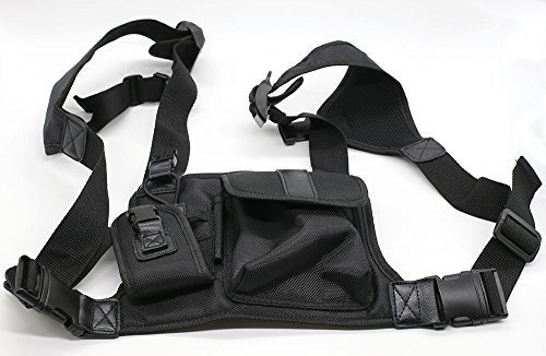 Wishring Universal Hands Free Chest Pack Bag Harness for Motorola Kenwood Midland - Pack Universal Chest