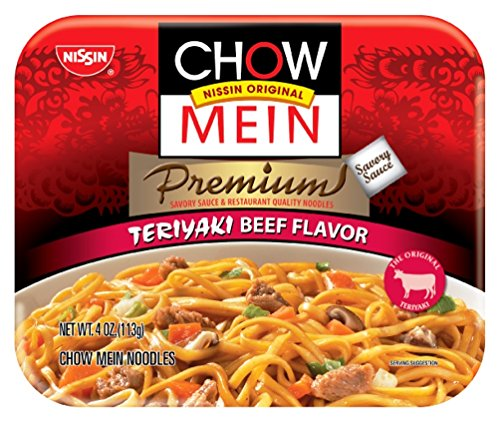 Nissin Chow Mein Premium Teriyaki Beef, 4.0 Ounce (Pack of (Asian Beef)