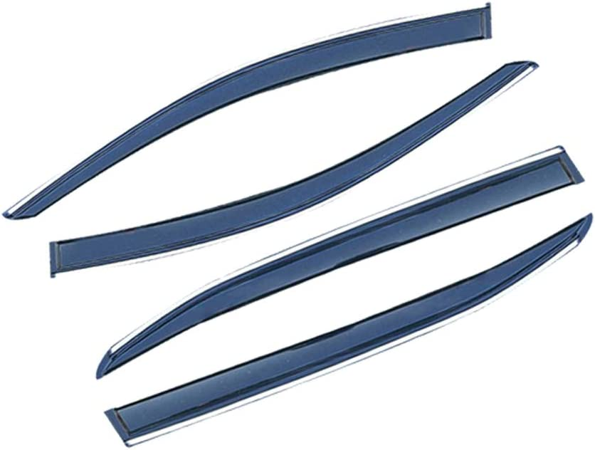 saitake Deflecteurs dair pour C itroen C-Elysee 2014-2019 D/éflecteurs de Vent Fen/être Visi/ère Pare-Soleil Pare-Pluie Pare-fum/ée Protection 4PCS
