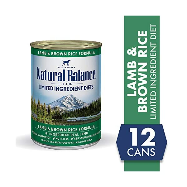 Natural Balance Limited Ingredient Diets Lamb & Brown Rice Formula Wet Dog Food, 13 Ounces (Pack of 12)