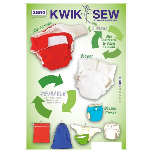 K3690 Diapers Sewing Pattern Diaper product image