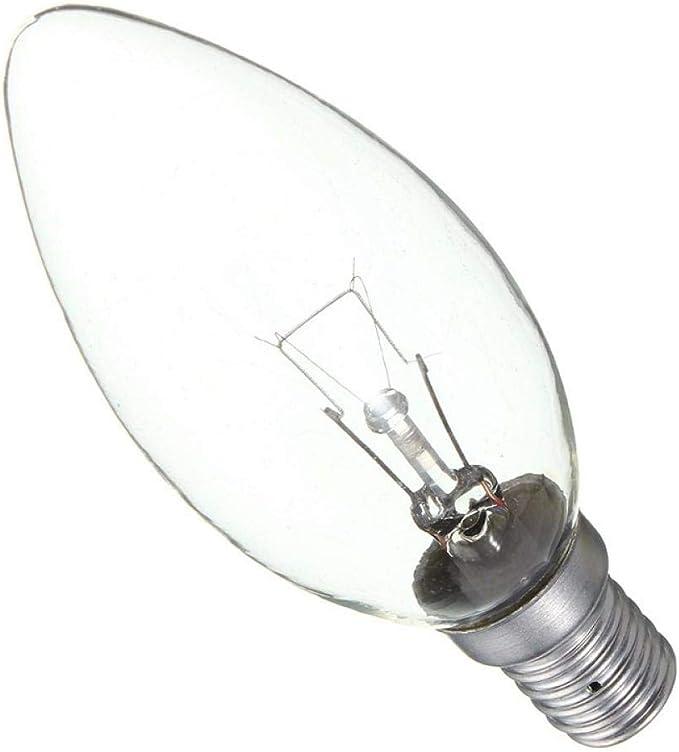 Lámpara Incandescente Bombilla De Filamento E14 25w 40w 60w Refrigerador Nevera Vela Luz Lámpara De Ahorro De Energía Blanco Cálido Ac220 230v 60w Amazon Es Iluminación
