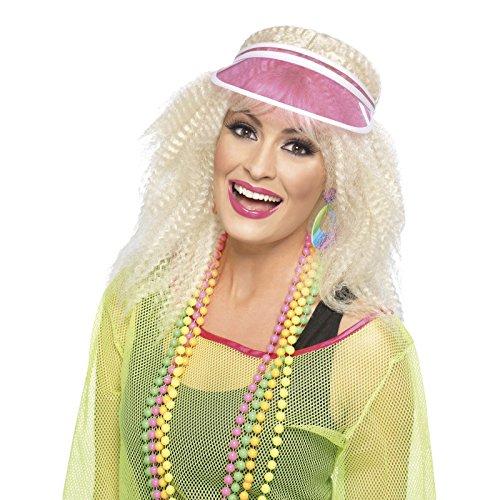 Poker Visor Pink Costume Accessory (Plastic Visor)