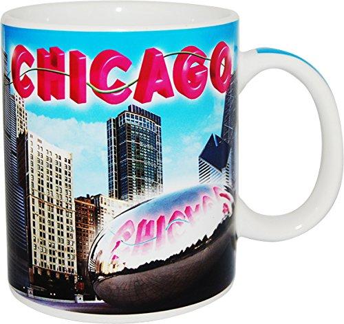 City of Chicago Peaceful Blue Sky, Skyline Coffee Mug