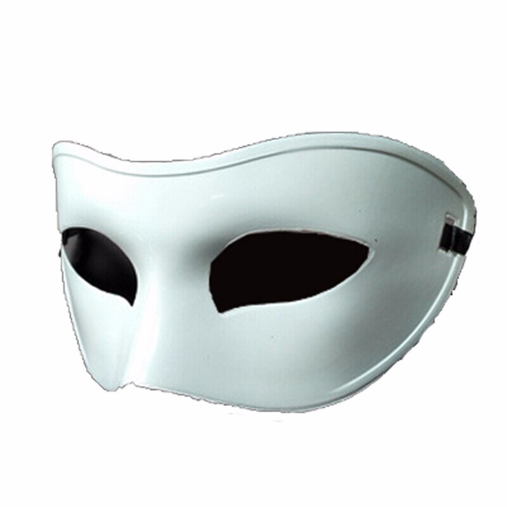 Mardi Gras Party Masquerade Mask,Black and White Half face mask Male and Female Retro Ball mask White Prom Masks by ParttYMask