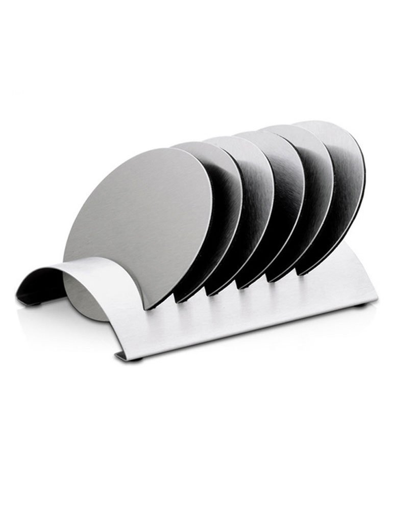 iecool Creative Stainless Steel Metal Placemats Insulation Pad Silver Round