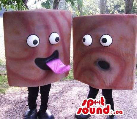 Are A Peculiar Pair Of Squared Candies With Comical - Squared Face