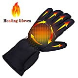TXSGJ Electric Heating Gloves Waterproof Insulated Battery Powered Rechargeable Heated Gloves for Winter Outdoor Camping Hiking Hunting Cycling Skiing