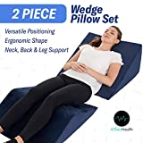 Bed Wedge Pillow – 2 Separate Memory Foam Incline