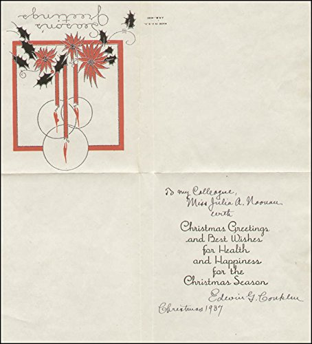 Edwin Grant Conklin - Inscribed Christmas/Holiday Card Signed 1937